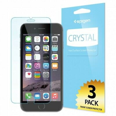 AU5.62 • Buy X3 (3 Pack) Spigen IPhone 6 Plus Screen Protector Crystal Hard Surface