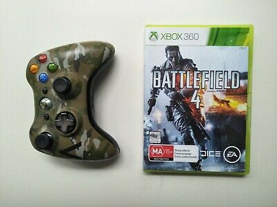 AU75 • Buy XBox 360 Camouflage Wireless Controller - Special Edition + Battlefield 4