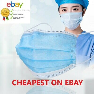3 PLY Face Mask Surgical Disposable Blue Breathable Face Protection Masks • 3.45£