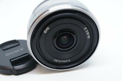 $ CDN188.26 • Buy Silvery Sony SEL16F28 16mm F/2.8 Wide Angle E-mount Lens For NEX 3 5 6 7 A6000