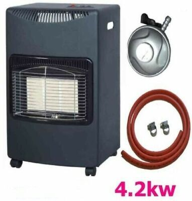 New Calor 4.2kw Portable Heater Free Standing Heating Cabinet Butane Gas Heaters • 89.95£