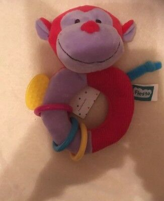 £4.99 • Buy Ringalings Soft Multi Sensory Cheeky Monkey Teething Ring Suitable From Birth