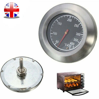 Stainless Steel Temperature Gauge Thermometer For Barbecue Grill Kitchen Cooking • 6.95£