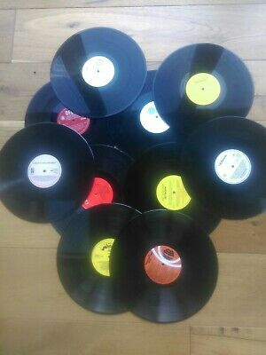 Job Lot Of 10 X 12 Inch LP Vinyl Records For Craft, Upcycling Projects Etc  • 3.90£