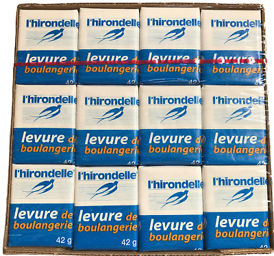 French Fresh Yeast L'Hirondelle 42g X 12 Vegan Kosher For Dough Bread Baguettes • 11.50£