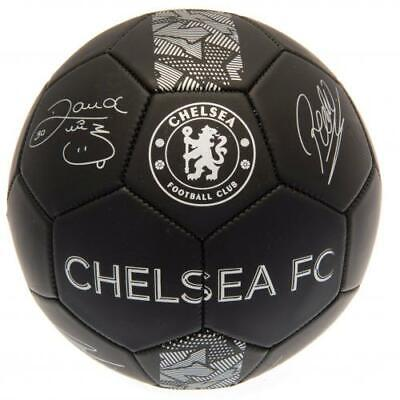 Chelsea FC Official Crested Signature Matt Black Football Size 5 Full Size Gift • 12.69£