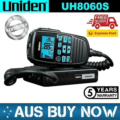 AU297 • Buy UNIDEN UH8060S Remote Speaker Compact UHF CB Two Way Radio 5W 80 Channel Vehicle
