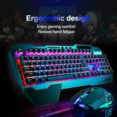 AU68.52 • Buy Rechargeable Gming Keyboard And Mouse Combo USB Wireless LED Backlit For PS4 AU