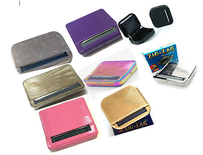 AUTOMATIC CIGARETTE ROLLING MACHINE Tobacco Smoking Case Tin Box Quality Strong • 3.99£