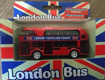 $ CDN10.37 • Buy Double Decker London Transport Bus Die-cast Vehicle Toy With Pullback Motor