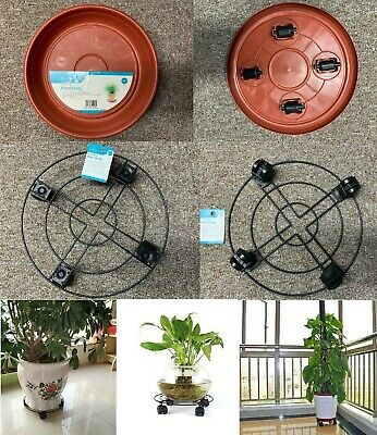 £6.95 • Buy New Plastic Metal Plant Pot Mover 4 Wheel Garden Dolly Tray Base Stand Trolley