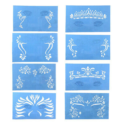 £2.33 • Buy Cosplay Airbrush Paint Stencils Face Body Painting Template Stage Reusable