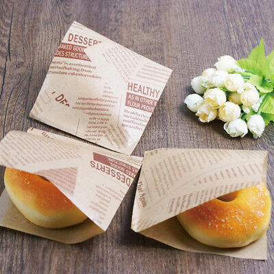 £5.65 • Buy Food Greaseproof Paper Bag Triangle Bag Donut Bread Sandwich Wrapping Paper FB