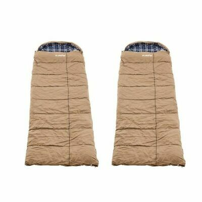 AU188.10 • Buy 2x Kings Premium Sleeping Bag -5 To +5 Degrees Celsius - Left And Right Zipper