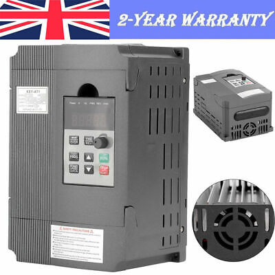 1.5KW Single Phase Variable Frequency Drive Inverter CNC Motor VFD PWM Control • 52.92£