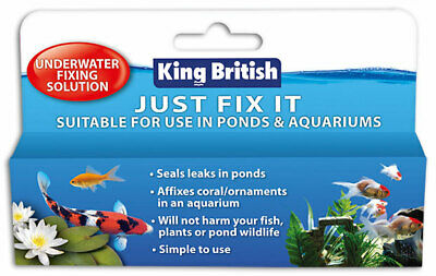 King British Just Fix It Underwater Fixing Solution Pond & Aquarium Sealant KB • 7.99£