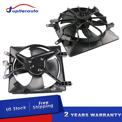 $67.91 • Buy New Radiator AC Condenser Cooling Fan For 2001-2005 Honda Civic 1.7L Left+Right
