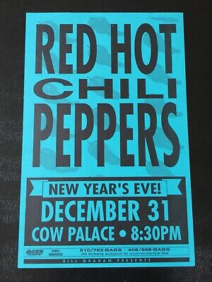 $320 • Buy Red Hot Chili Peppers Nirvana Pearl Jam New Year's 1991 VINTAGE Concert Poster