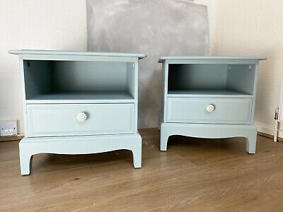 Pair Of Bedside Cabinets In Pale Blue • 250£