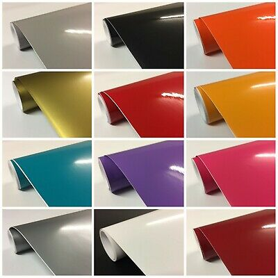 £3.99 • Buy Gloss Sign Vinyl Roll Kitchen Cupboard Covering Wrap Sticky Back Plastic White