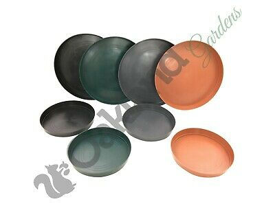 Plant Pot Saucers Round Deep 10 15 20 30 35 45 50 65 70 Litre Drip Water Tray  • 4.05£