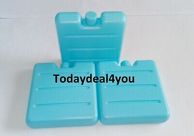 3 Mini Reusable Freezer Cool Blocks Ice Pack Cooler For Picnic Travel Lunch Box • 4.40£