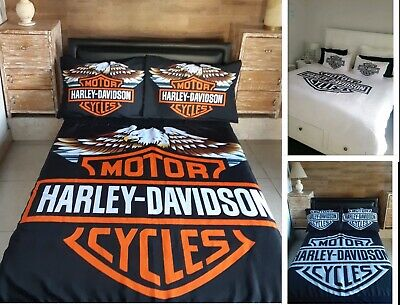 AU130 • Buy Harley Davidson Doona Covers .. NOW MADE WITH COTTON