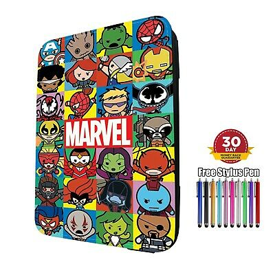 AU23.35 • Buy Marvel Characters Flip Leather Case Cover For Amazon Paperwhite 3/4 & Kindle 7/8