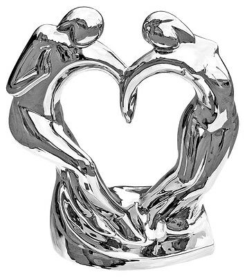 Dancing Couple - Chrome Plated Ornament - Very Contemporary • 22£