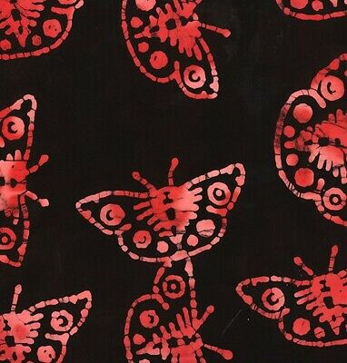 Batik Butterfly John Louden 100% Cotton Fabric Metre, 1/2 Metre Or FQ • 4.55£