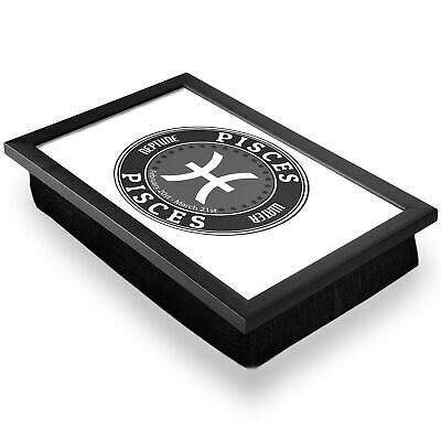 Deluxe Lap Tray - BW - Pisces Zodiac Neptune Water Star Sign  #40221 • 1,000£