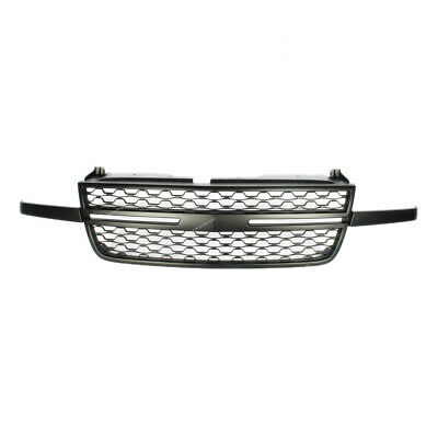 $113.03 • Buy Front Upper Grill Black Grille Fit For 05-07 Chevy Silverado 1500 2500HD 3500