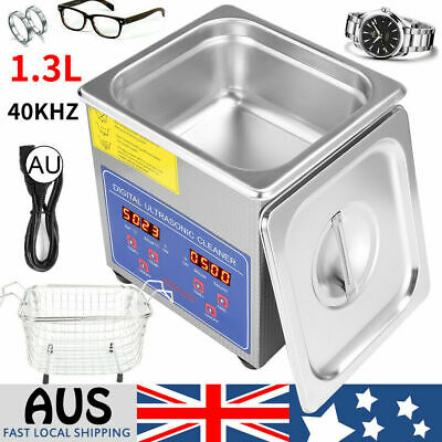 AU72.99 • Buy 1.3L Ultrasonic Cleaner Stainless Steel Heated Timer Jewelry Tools Glasses Clean