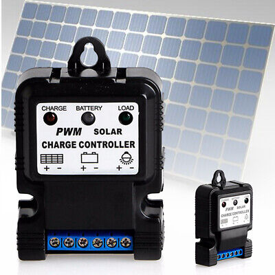 £3.85 • Buy 6V 12V 10A PWM Auto Solar Panel Charge Controller Battery Charger Regulator Sf