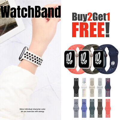 $5.98 • Buy For Apple Watch Sport Band Silicone IWatch Series 6 SE 5 4 3 40mm 44mm 38mm 42mm