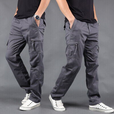 $26.99 • Buy US Mens Cargo Trousers Pocket Work Pant Tactical Military Combat Casual Travel
