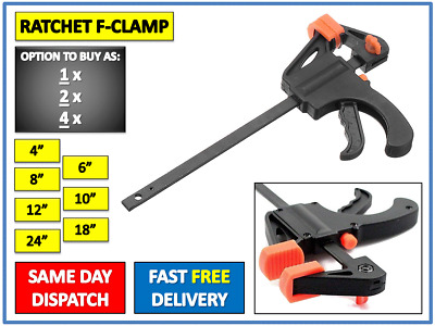 8/'/'-24/'/' F Clamps Bar Clamp Woodworking Parallel Tool Heavy Duty Adjustable UK