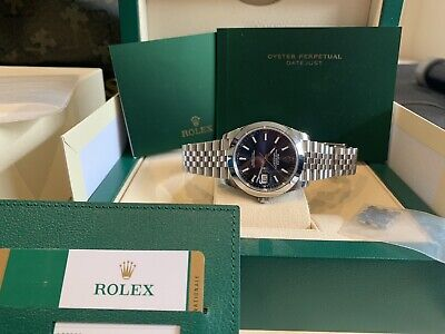 AU12899 • Buy As New Rolex Blue Jubilee Datejust 41 126300 With Stickers And AD Receipt