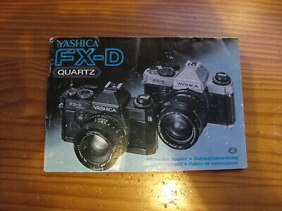 Yashica FX-D Instruction Manual. • 3.50£