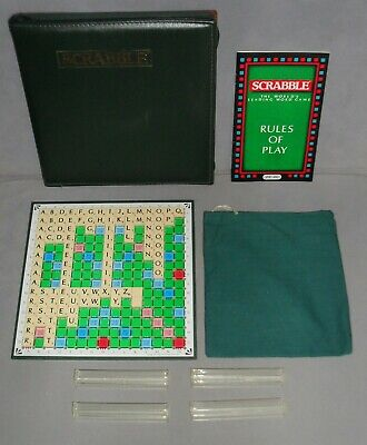 Travel Scrabble Deluxe Board Game Spears Games Zip Case 1990s COMPLETE EXC RARE • 19.99£