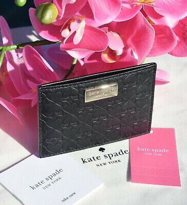 $ CDN35.58 • Buy 🌸Kate Spade Penn Place Embossed Graham Card Holder Leather Wallet Black New $68