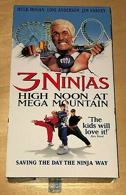 $ CDN13.30 • Buy 3 Ninjas High Noon At Mega Mountain VHS Tape Hulk Hogan Movie Jim Varney Film