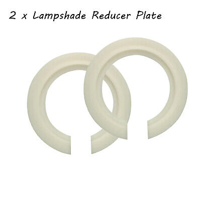 Lampshade Reducer Ring White Reducing Adapter Plate / Washer Light Fitting • 2.69£