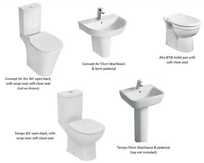 IDEAL STANDARD BATHROOMS UP TO 65% OFF Toilet, Wc, Washbasin, Pedestal, Semi-ped • 239£