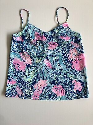 $39.99 • Buy Lilly Pulitzer Margaery Cami Lapis Lazuli Beach Club Blooms Small