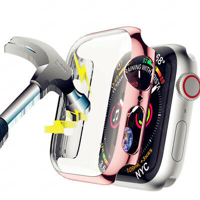 $ CDN5.34 • Buy Screen Protective Case For Apple Watch Series 5 4 3 2 IWatch 44mm 42mm 40 Mm 38