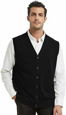 $38.92 • Buy TOPTIE Mens Sweater Vest Solid Knitted Lightweight Thermal Cardigan