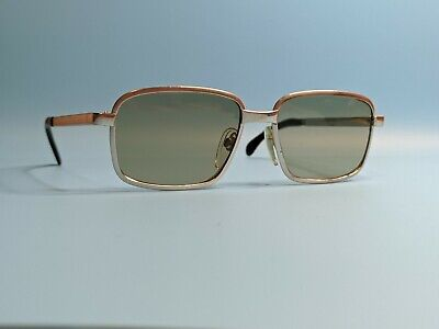 Vintage Rodenstock Convent White Gold Filled Rectangular Sunglasses Made Germany • 90£