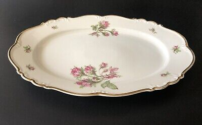 """£17.99 • Buy Edelstein Bavaria Maria Theresia Moss Rose Oval Serving Plate 13 1/2"""" 16703"""