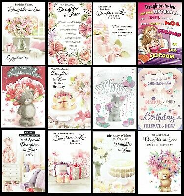 DAUGHTER-IN-LAW ~ QUALITY BIRTHDAY CARD Choice Of Designs -ONLY 99p EACH • 1.20£